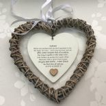 Shabby personalised Chic Special BEST Friend ~ ANY NAME Willow Heart Present BFF